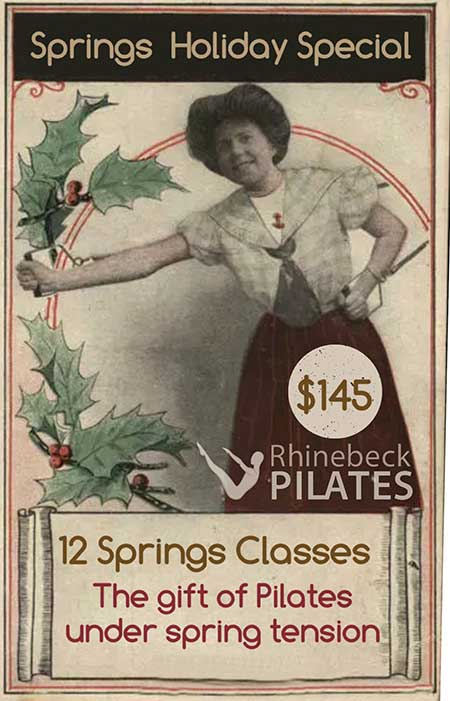 Holiday Pilates Spring Class Package Certificate