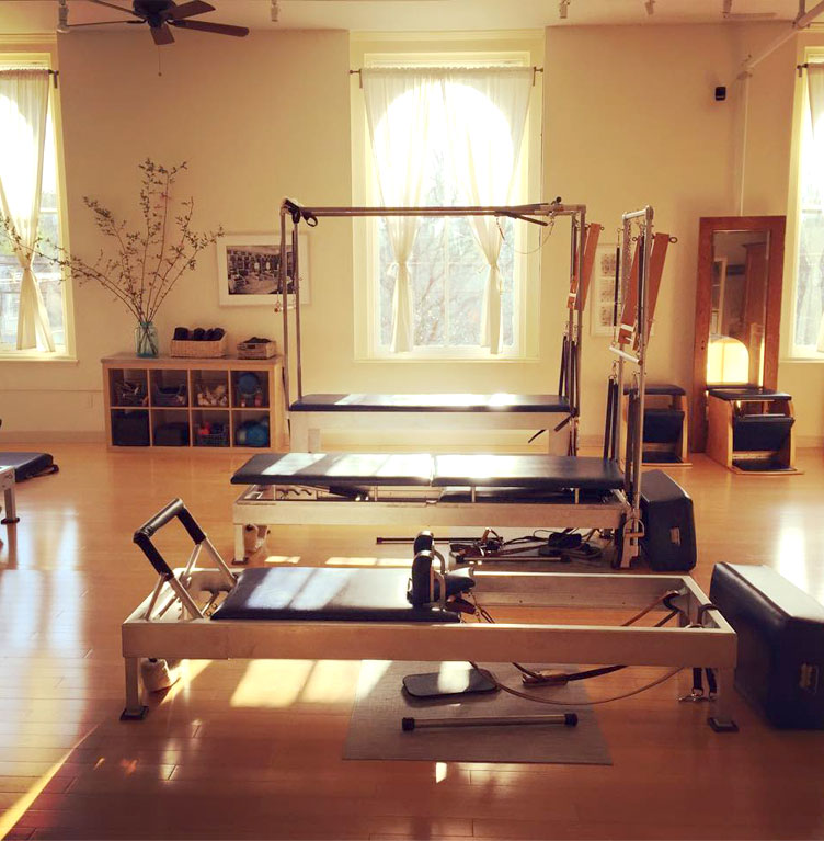 Rhinebeck Pilates has a beautiful spacious studio in the Hudson Valley.