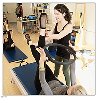 The Teacher Training Program begins with a prerequisite workshop that includes practice in the Pilates Mat and preparation to teach it.