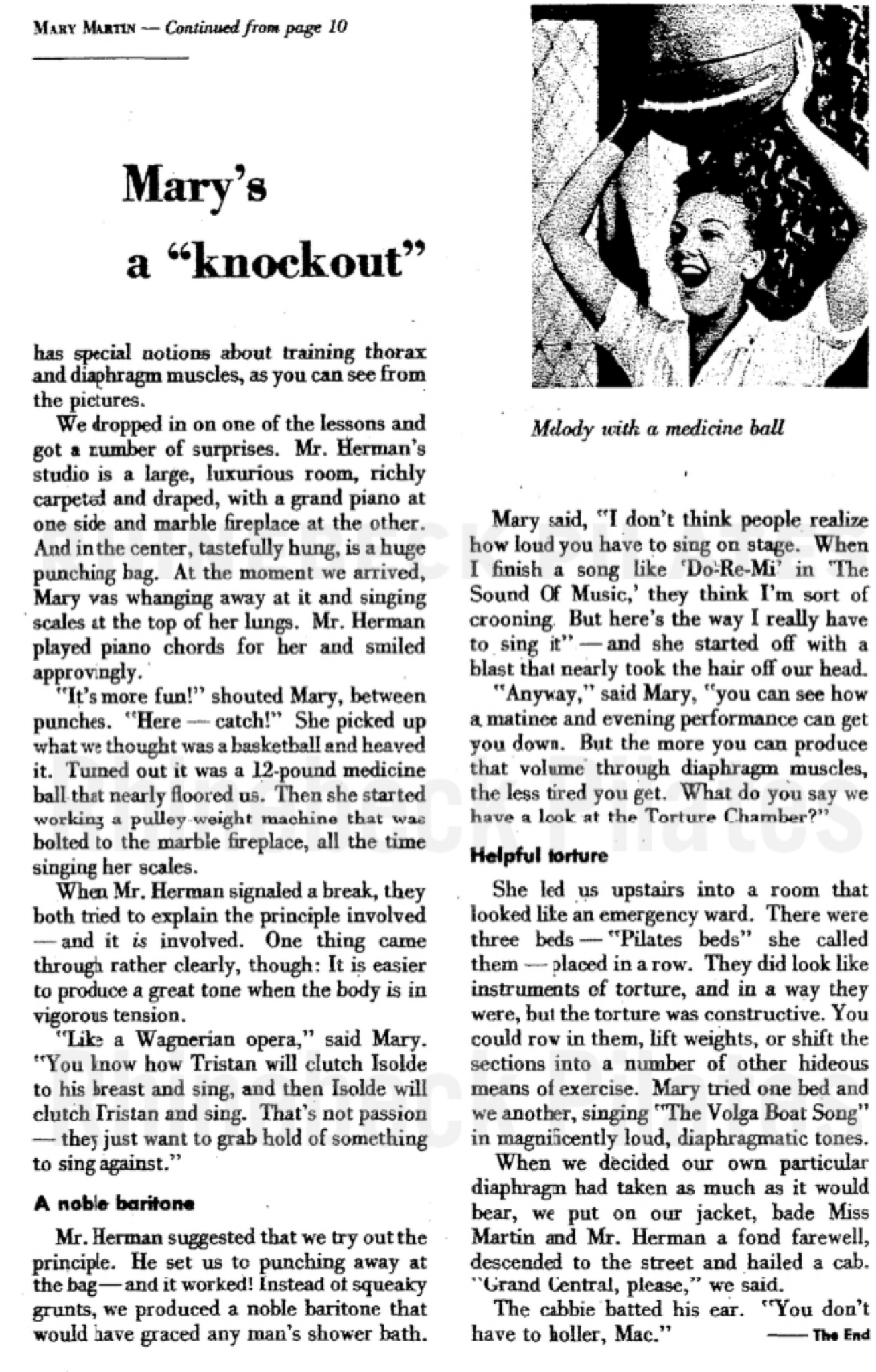 Mary's a Knockout Archive Article