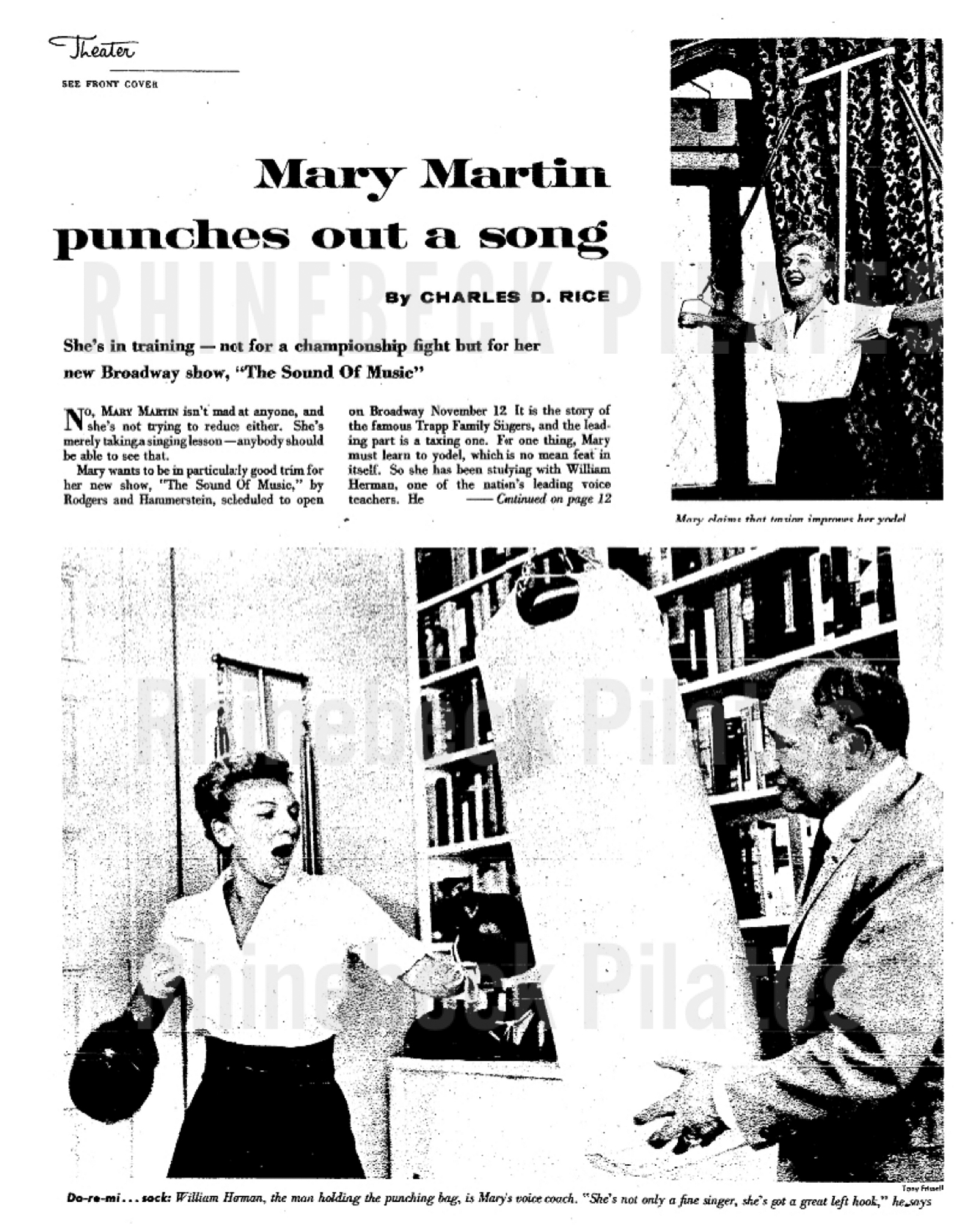 Mary Martin Punches Out a Song Article