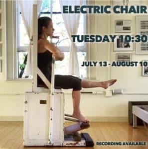 electric chair pilates online virtual class