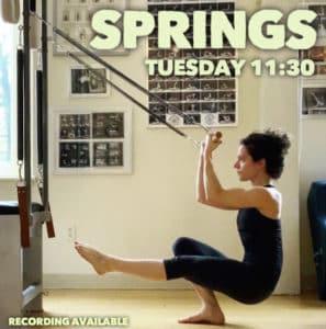 pilates online virtual springs class