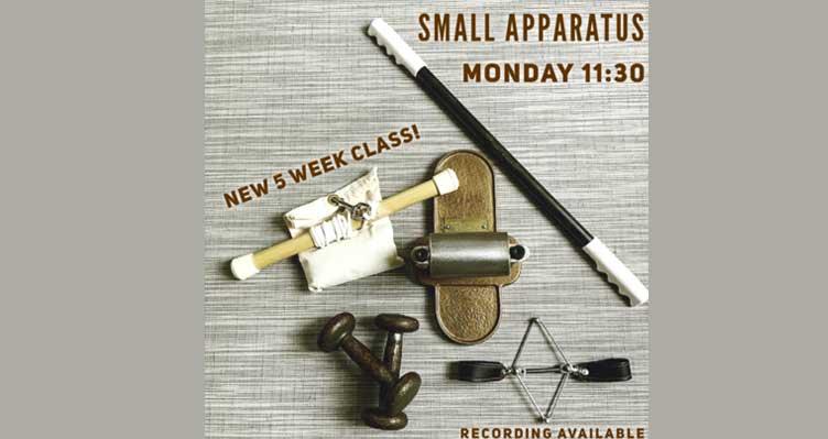 small apparatus virtual online pilates class