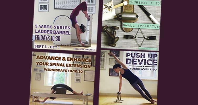 4 New Virtual Classes: Ladder Barrel, Push Up Bars, Spinal Extension, Small Apparatus